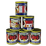 San Marzano DOP Authentic Whole Peeled Plum Tomatoes - 28 oz cans (Pack of 6) ...