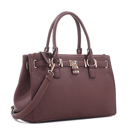 Concealed Carry Purse - Dina Lock Concealed Carry Satchel (Brown) ()