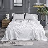 Simple&Opulence Linen Cotton Blend Sheet Set 4PCS Solid Color (Queen, White)