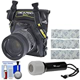 DiCAPac WP-S5 Waterproof Case for Compact DSLR Cameras with LED Torch + Kit