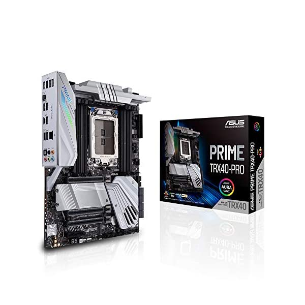 Asus PRIME TRX40-PRO AMD 3rd Gen Ryzen Threadripper Strx4 ATX Motherboard with DDR4, M.2, USB 3.2 Gen2, Type-C Front…