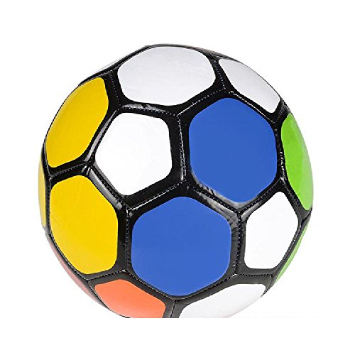 9'' Multi Color Soccer Ball by Bargain World