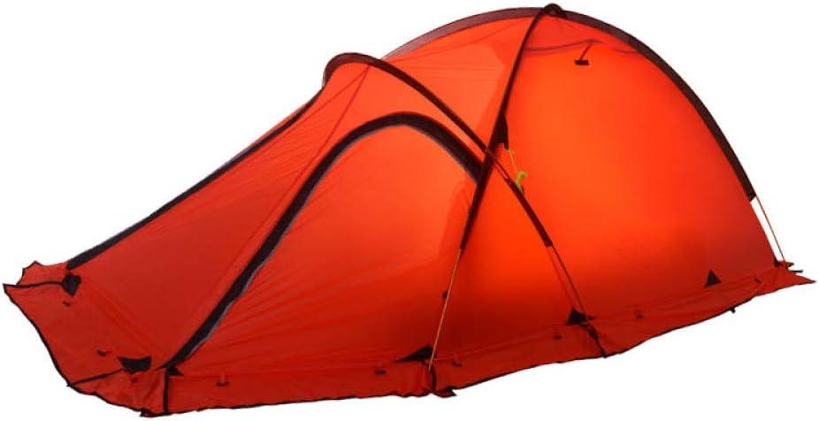 KGLOPYE Carpa Tienda de Fibra de Nylon de Silicona 20D 4 Estaciones Tienda de campaña para 2-3 Personas Tienda Ultraligera, Adecuada para Tiendas de Invierno de Alta altitud y Baja Temperatura, Rojo:
