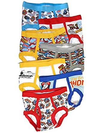 Thomas the Train Toddler Boys' Briefs 7 Pair Pack, Assorted, 2T/3T
