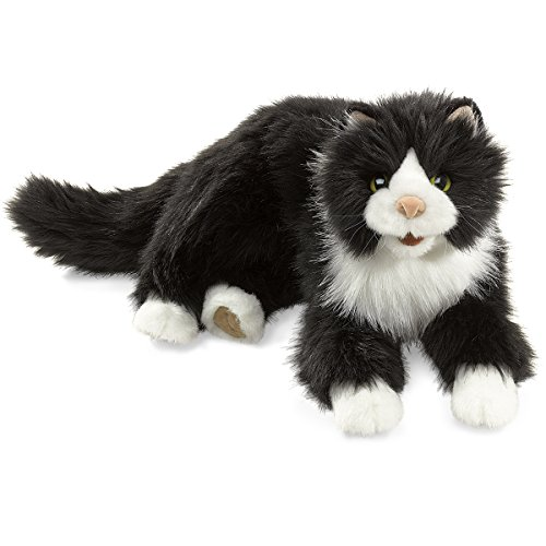 Folkmanis Tuxedo Cat Hand Puppet (Hand Cat Puppet Folkmanis)