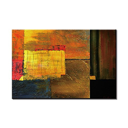 SUMGAR Canvas Wall Art for Living Room Abstract Pictures of Colorful Set Square Geometry - Washington Square Shopping