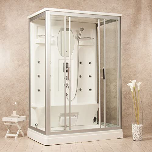 Cabina de ducha hidromasaje Artic 140 x 90 Sauna, Baño Turco y ...