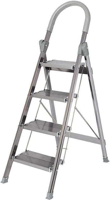 Multifunción Aleación de Aluminio Plegable Escalera Taburete Sociedad / Pastel en 4 Pasos tienda Escalera / Escalera / Dos Colores / Escaleras de Trabajo en Heights, color a 47*83*136cm: Amazon.es: Oficina y papelería