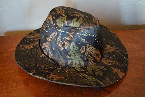 Camo Two-Way Boonie Hat ~ Safari Aussie Outback Cap ~ Jungle Pattern ()