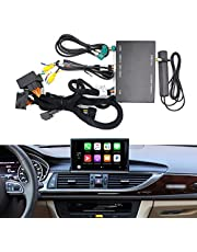 Wireless CarPlay Android Auto AirPlay Retrofit Kits Compatible with Audi A6 A7 S6 S7 2012-2015 MMI 3G High 3G+, Support iOS 14 Split Screen, USB Stick Playback, Built-in YouTube App