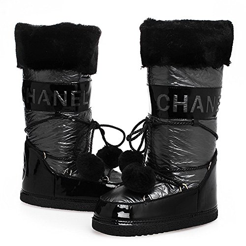 with M Round 7 5 Heels B Fabric Toe Low Cotton Bandage AmoonyFashionWomens Color Grey US Closed Assorted Boots pUSqqv