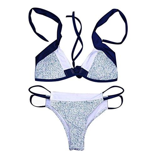 Traje de baño de bikini conjunto de mujeres Push-Up traje de baño acolchado de sostén