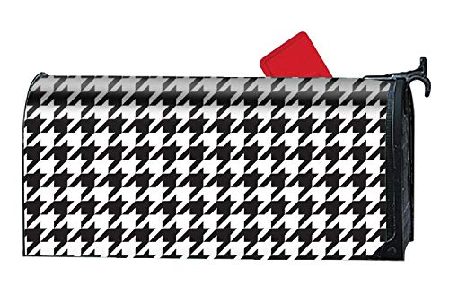 BABBY 9X21 Magnetic Mailbox Cover Standard Mailbox Wrap with Houndstooth Pattern Design