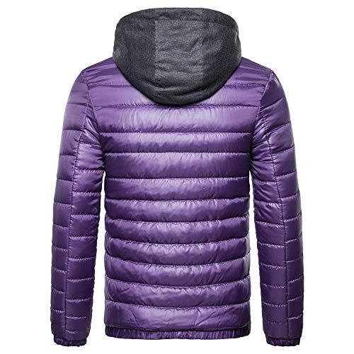 Manches Capuche Automne En Solide Longues Coton Haut Hiver Sweat Violet Casual Malloom À Homme 0UqwB