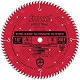 Freud LU74R010 10-Inch 80 Tooth ATB Thin Kerf Cut Off Saw Blade with 5/8-Inch Arbor and PermaShield Coating