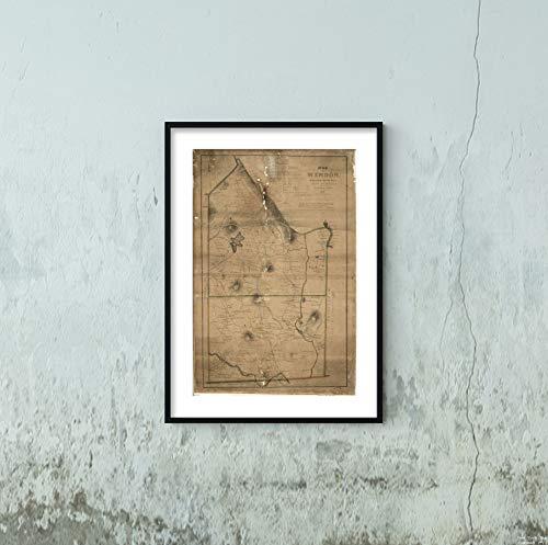 1831 Map Title: Map of Mendon, Worcester County, Mass Subject: Blackstone Blackstone Mass Mandon Mas
