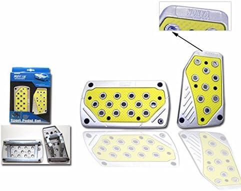 UrMarketOutelt Yellow//Silver Universal Sport Automatic Transmission Auto Brake Gas Racing Pedal Pads Set Non Slip