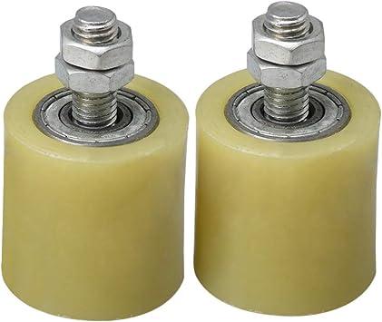 BQLZR amarillo plata PP Rueda de acero soporte de rodamiento de rodillo guía 6201 M10 Tornillo para eléctrico puerta corredera puerta Pack de 2, M4170626083: Amazon.es: Bricolaje y herramientas