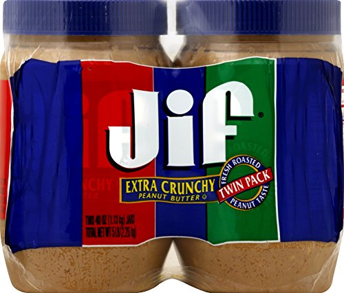 Jif Extra Crunchy Peanut Butter Twin Pack, 80 Ounce