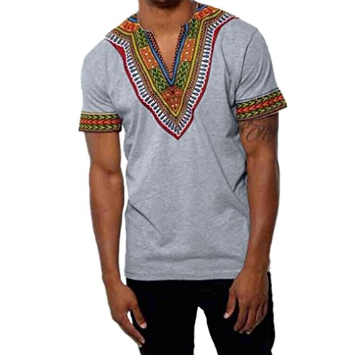 dbb135760381f Qisc Mens Tops Mens Hipster Hip Hop African Bright Graphic Longline T-Shirt  Blouse Variety Colors (XXL