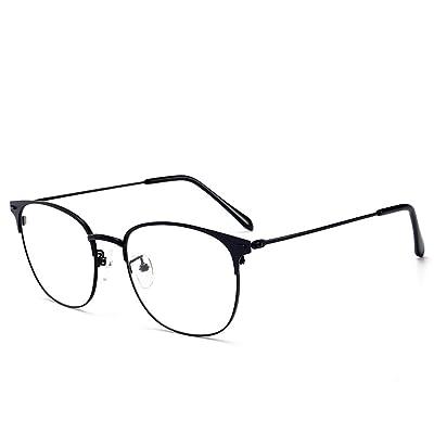 DXMR Anti Fatigue Optique Glasses,Lunettes de RadioprotectionMonture de Lunettes rétro en métal Anti-Bleu à Miroir Plat,Anti Blue Light Lunettes -C-3 High-tech