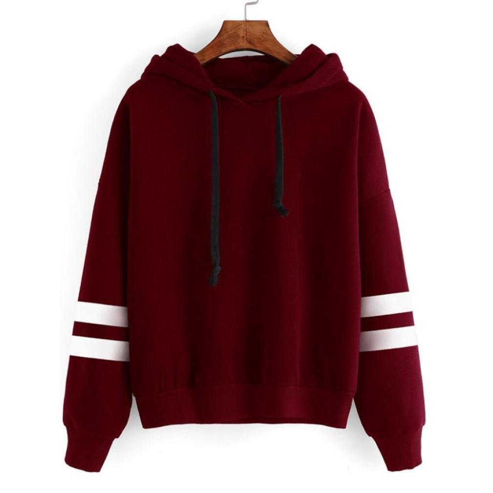 Bluse Damen Sunnyadrain T Shirt Fashion Herbst Mode Langarm Hoodie Sweatshirt Pullover mit Kapuze Pullover Tops Bluse Sunnyadrain Bluse