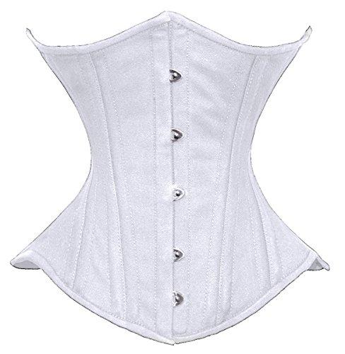 Luvsecretlingerie 26 Double Steel Boned Waist Training Cotton Underbust Corset L/28 (For waist 32