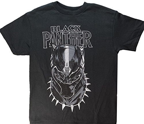 (Marvel Boys' Little Black Panther Movie Big Face Short Sleeve T-Shirt,)
