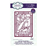 Creative Expressions Craft Die CED3091 Sue Wilson Festive Collection - Stained Glass - Robin Redbreast