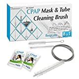 RespLabs CPAP Hose Cleaning Brush - The [8 in 1] System for Every CPAP Tube Type: Standard, Slim Line And Heated Tubing