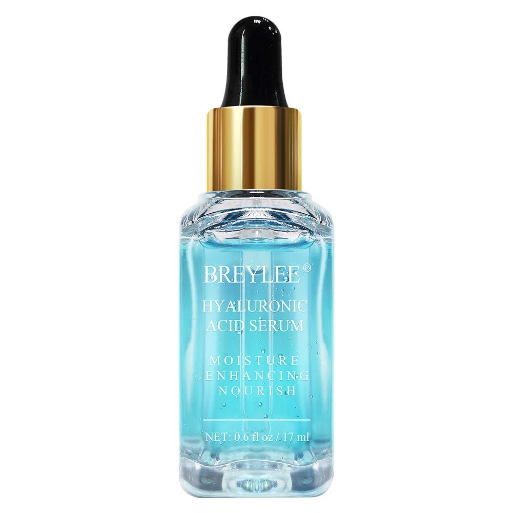 Hyaluronic Acid Serum, BREYLEE Moisturizing Face Serum Natural Facial Serum for Enhancing Nourishing Hydrating Face Skin Care (17ml, 0.6Fl Oz)