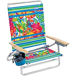 Rio Beach Classic 5 Position Lay Flat Folding Beach Chair - Toucan Florals