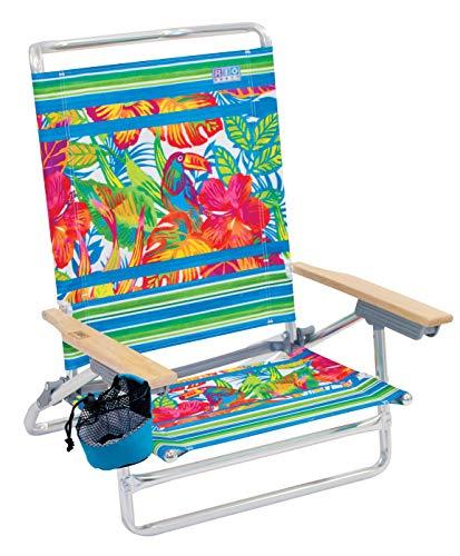 RIO BEACH Classic 5 Position Lay Flat Folding Beach Chair – Toucan Florals
