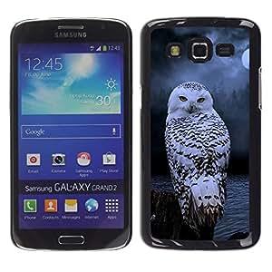 Caucho caso de Shell duro de la cubierta de accesorios de protección BY RAYDREAMMM - Samsung Galaxy Grand 2 SM-G7102 SM-G7105 - Winter Night Mysterious Moon