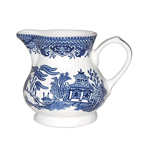 - Churchill Blue Willow Creamer 8.5-ounce