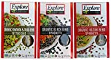 Explore Cuisine Organic Gluten Free Pasta 3 Flavor Variety Bundle
