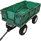 Sunnydaze Heavy-Duty Dumping Utility Cart Liner ONLY - Green