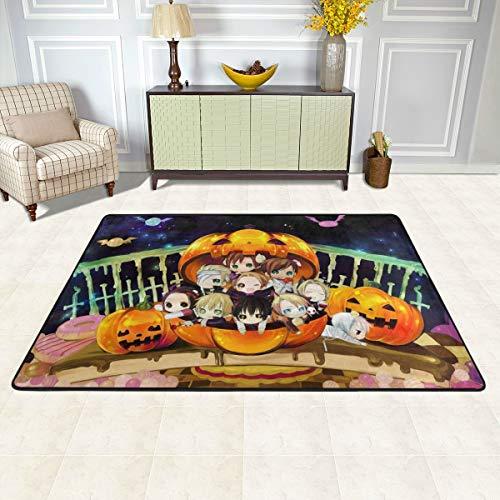 Angela R Mathews Hetalia-Halloween Non-Slip Carpet Area Rug Modern Flannel Microfiber Anime/Cartoon Rectangle Carpet Decor Floor Rug Living Room,Bedroom,Study Floor Mat 6' X 4']()