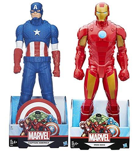 Giant Sized Marvel Titans 2-Pack Hero Series Iron Man VS Captain America Avengers 20