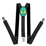 Kids Lovely Couple Of Pizza Braces Suspenders Children Boys / Girls Clip-on Adjustable Y-back Belts