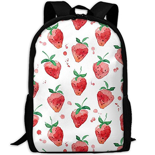 Strawberry Dip Recipe - Naughty Strawberry Backpack Briefcase Laptop Travel Hiking School Bags Stylish Daypacks Shoulder Bag