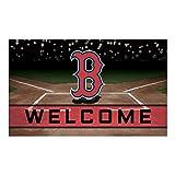 Fanmats 21912 Team Color Crumb Rubber Boston Red Sox Door Mat, 1 Pack