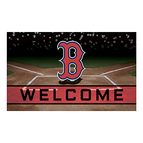 FANMATS 21912 Team Color Crumb Rubber Boston Red Sox Door Mat
