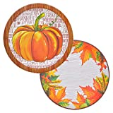 Fall/Thanksgiving Paper Plates, 18-ct. 2 Styles Pack of 2 by Fun Party Daze