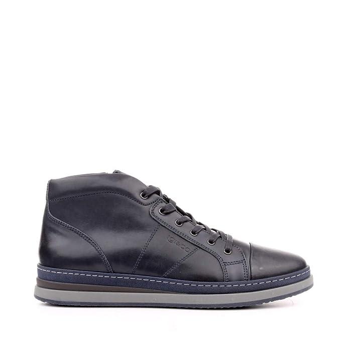 IGI&CO Sneaker Alta Blu Scuro Autunno Inverno: Amazon.it