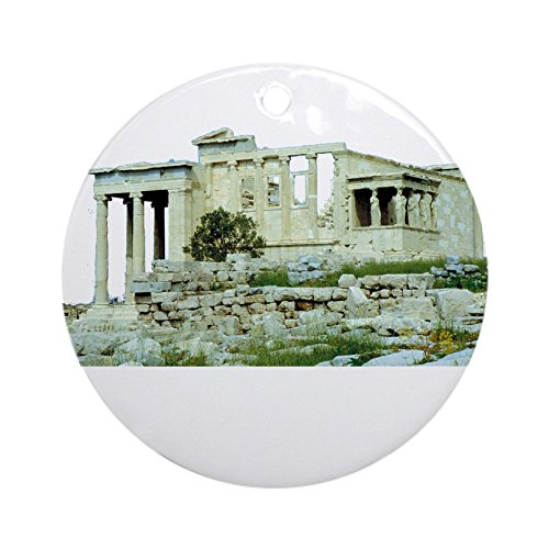 CafePress - Greece (Acropolis) (Dark) Ornament (Round) - Round Holiday Christmas Ornament (Coat Of Arms Dark T-shirt)