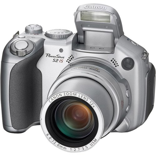 (Canon Powershot S2 IS 5MP Digital Camera with 12x Optical Image Stabilized Zoom (OLD MODEL) )
