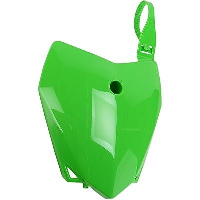 UFO Plastics Front Number Plate Green for Kawasaki KLX110 10-11: Automotive