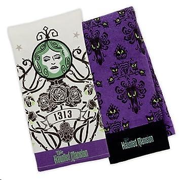 Amazon.com : Disney Parks Haunted Mansion Dish Towel Set of 2 ...