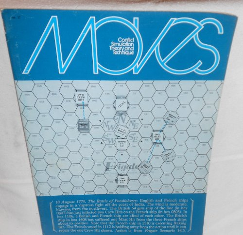 1974 Magazine (Moves Conflict Simulation Theory and Technique Magazine #17, Oct./Nov. 1974, 10 August 1778, The Battle of Pondicherry)
